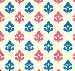Seamless Ikat Paisley Pattern