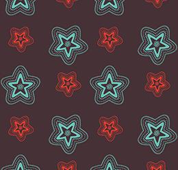 Star Block Print