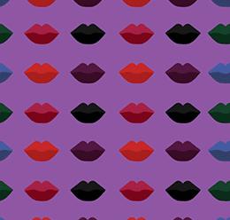 Vector Lips Pattern