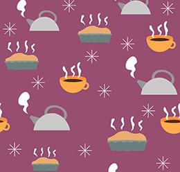 Coffee Jug Winter Pattern