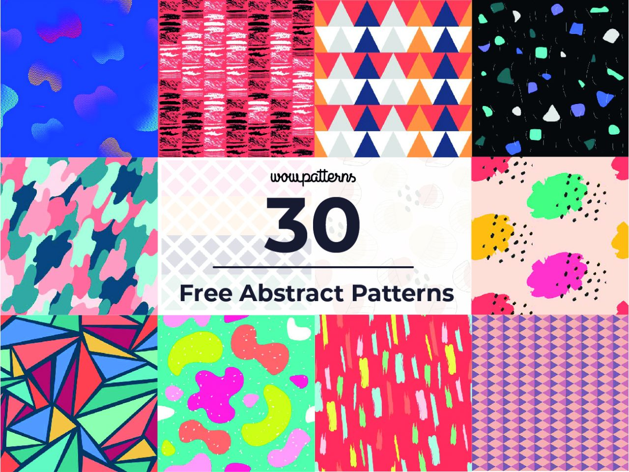 30 different abstract pattern thumbnail